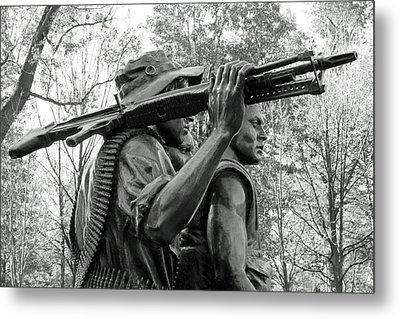 Three Soldiers In Vietnam Metal Print