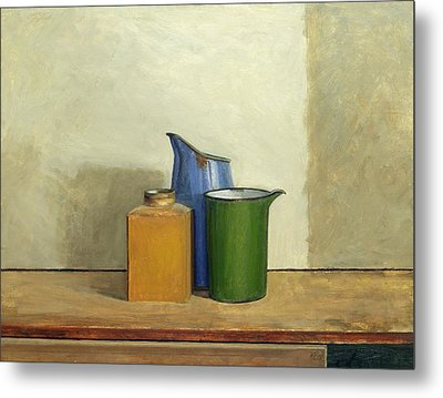Three Tins Together Metal Print