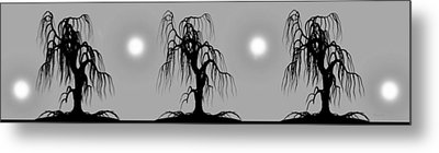 Three Trees Metal Print by Bob Orsillo