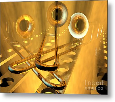 Three Trombones Metal Print