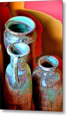 Three Urns Metal Print