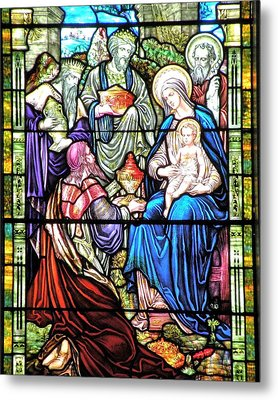 Three Wise Men - Visitation Of The Magi Metal Print