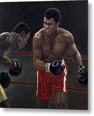 Thrilla In Manilla Metal Print by Gregory Perillo