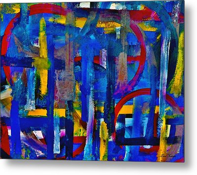 Metal Print featuring the painting Anchored In Art by Lisa Kaiser
