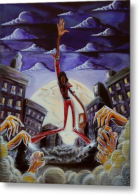 Metal Print featuring the painting 'thriller V3' by Tu-Kwon Thomas