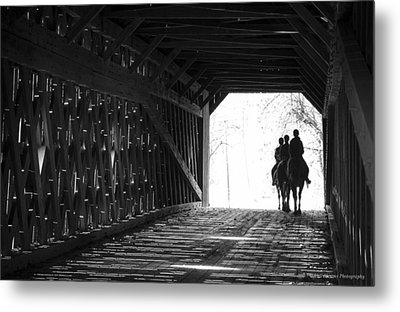 Metal Print featuring the photograph Through A Covered Bridge by Phil Abrams