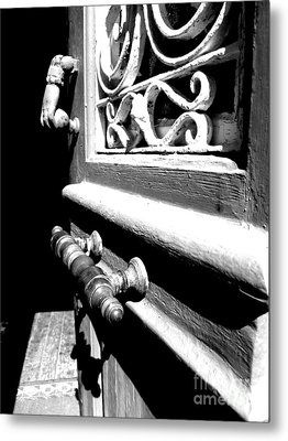 Through An Open Door Into Darkness Metal Print by Vicki Spindler