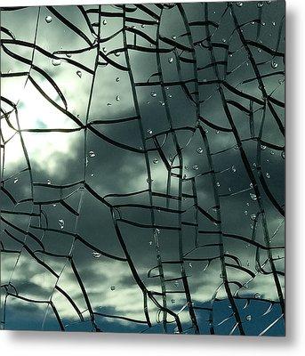 Through Broken Glass Metal Print