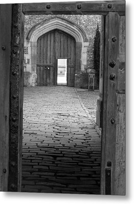 Metal Print featuring the photograph Through The Door by Meaghan Troup