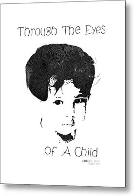 Metal Print featuring the drawing Through The Eyes Of A Child by Arthur Eggers
