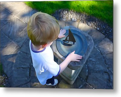 Metal Print featuring the photograph Through The Eyes Of A Child by Charlie and Norma Brock