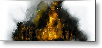 Through The Fire  Metal Print by Howard Barry