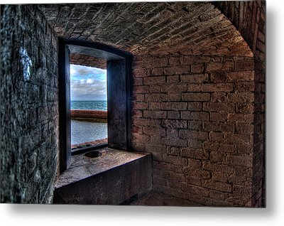 Through The Fort Window Metal Print by Andres Leon