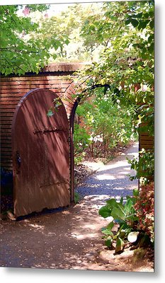 Through The Garden Gate Metal Print by Tamyra Crossley