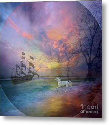 Through The Lense Of Past Metal Print by Jessie Art