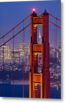 San Francisco Through The Letterbox Metal Print