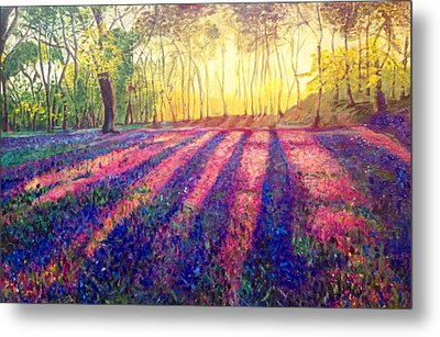 Metal Print featuring the painting Through The Light by Belinda Low