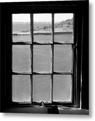 Metal Print featuring the photograph Through The Lighthouse Window by John Hoey
