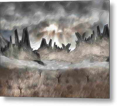 Through The Mist Metal Print by Jack Zulli