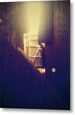 Through The Side Gate Metal Print by Matt Lindley