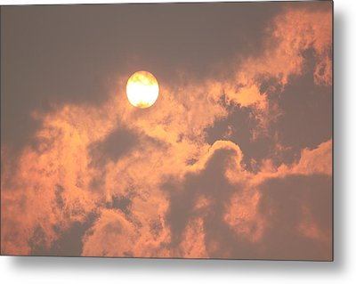 Through The Smoke Metal Print