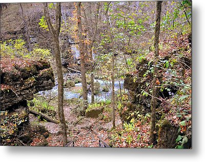 Through The Trees At Greer Spring Metal Print by Marty Koch
