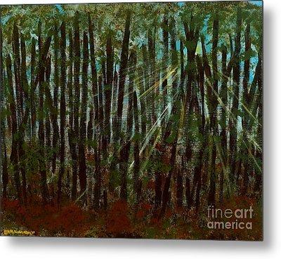 Through The Trees Metal Print by Hillary Binder-Klein