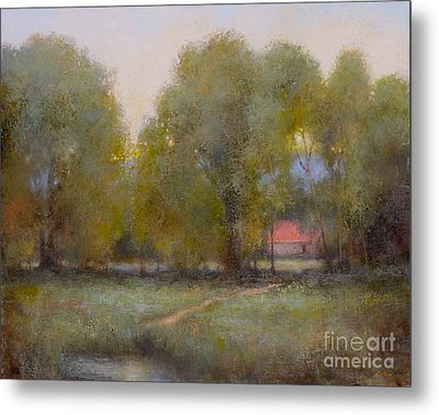 Through The Trees Metal Print by Lori  McNee