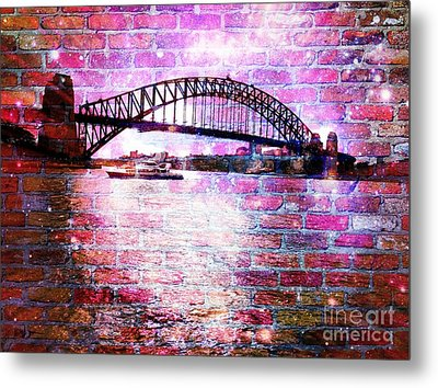 Sydney Harbour Through The Wall 1 Metal Print by Leanne Seymour