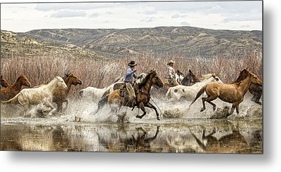 Through The Water I Metal Print by Joan Davis