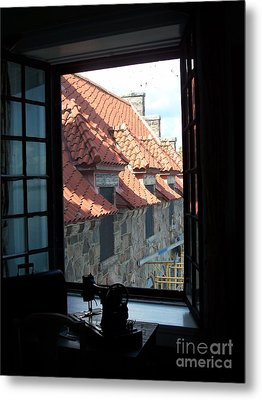 Through The Window Metal Print by Marilyn Zalatan