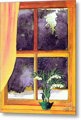 Metal Print featuring the painting Through The Window by Patricia Griffin Brett