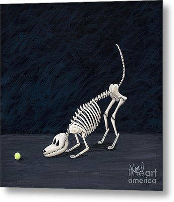 Throw The Ball Metal Print