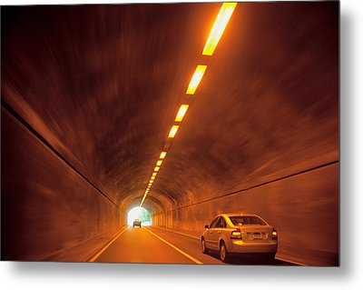 Thru The Tunnel Metal Print by Karol Livote