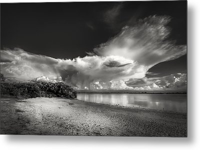 Thunder Head Comming Bw Metal Print by Marvin Spates