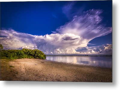 Thunder Head Coming Metal Print by Marvin Spates
