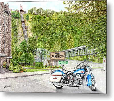 Metal Print featuring the painting Thunder In Johnstown by Albert Puskaric