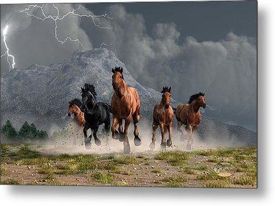 Thunder On The Plains Metal Print by Daniel Eskridge