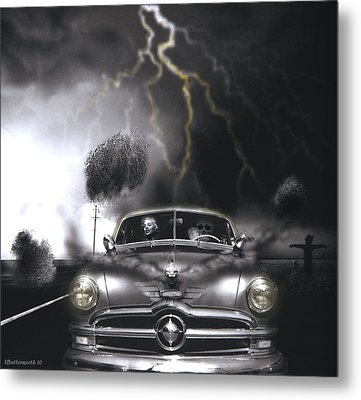 Thunder Road Metal Print by Larry Butterworth