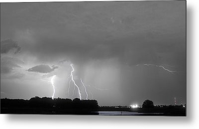 Thunder Rolls And The Lightnin Strikes Bwsc Metal Print by James BO  Insogna