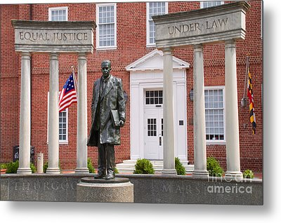 Thurgood Marshall Statue - Equal Justice For All Metal Print