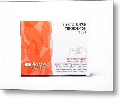 Thyroid Function Home Test Kit Metal Print