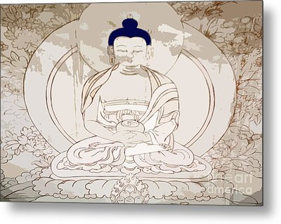 Tibet Buddha Metal Print by Kate McKenna
