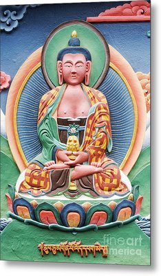 Tibetan Buddhist Deity Sculpture Metal Print by Tim Gainey