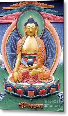 Tibetan Buddhist Deity Wall Sculpture Metal Print by Tim Gainey