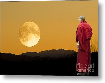 Tibetan Monk Metal Print by Angelika Drake