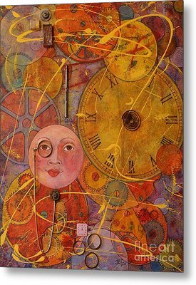 Metal Print featuring the painting Tic Toc by Jane Chesnut