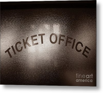 Ticket Office Window Metal Print by Olivier Le Queinec