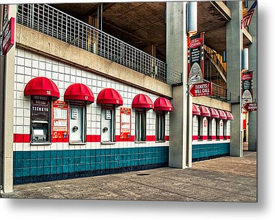 Ticket Windows Metal Print by Robert FERD Frank