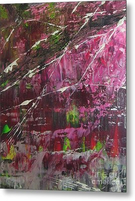 Metal Print featuring the painting Tickled Pink by Lucy Matta